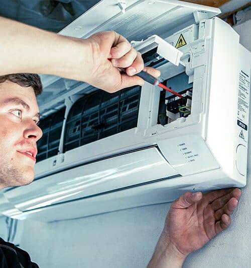 Montering af luft-luft varmepumpe